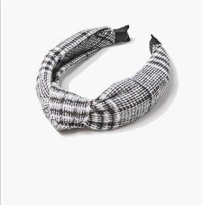 NWT twist knot plaid headband